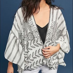 Anthro Ruffled Wrap Shrug New With Tags